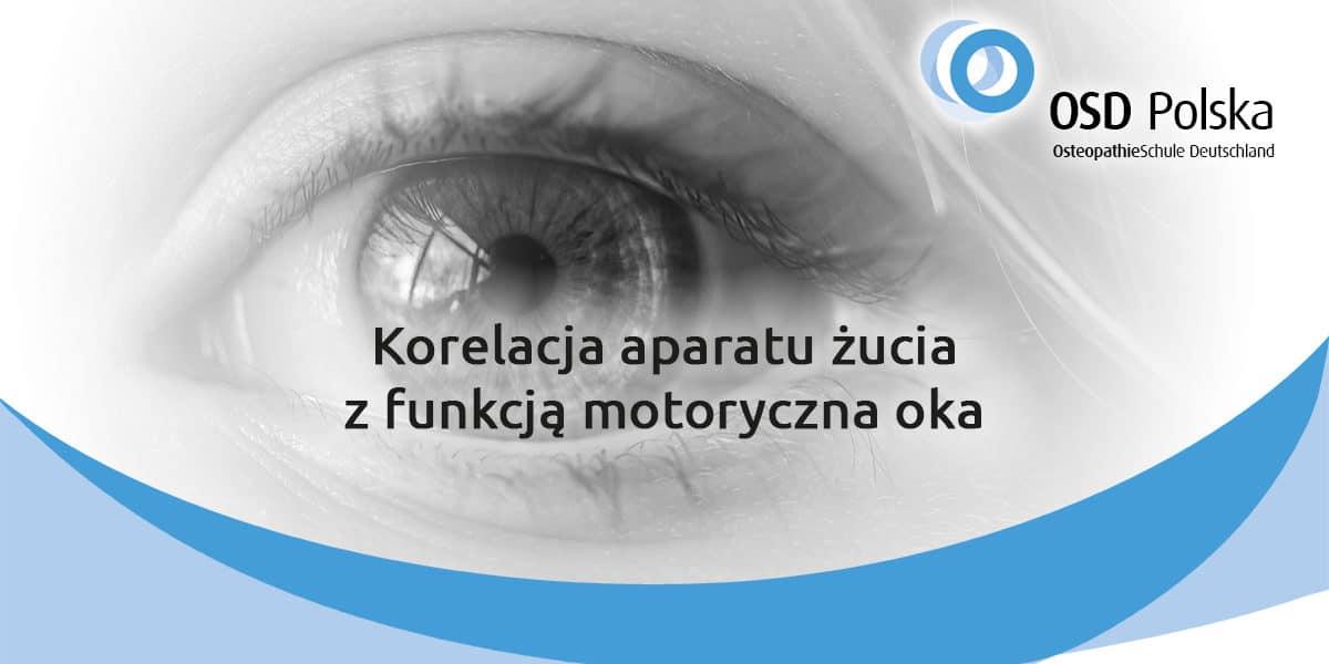 Korelacji aparatu żucia z funkcją motoryczną oka.